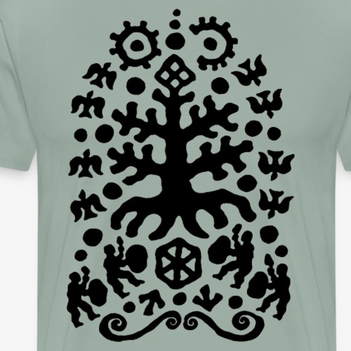 Shamans Tree by Qenjo - Men's Premium T-Shirt