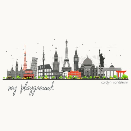 WORLD - MY PLAYGROUND - Carolyn Sandstrom - Men's Premium T-Shirt