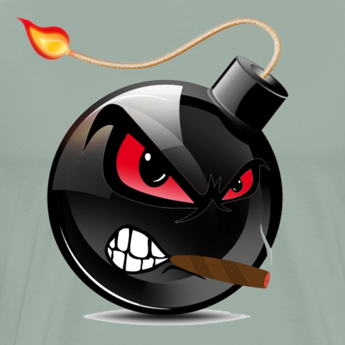 Bomb Red Eyes - Men's Premium T-Shirt