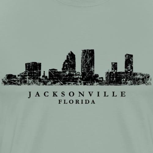 Jacksonville, Florida Skyline (Vintage Black) - Men's Premium T-Shirt