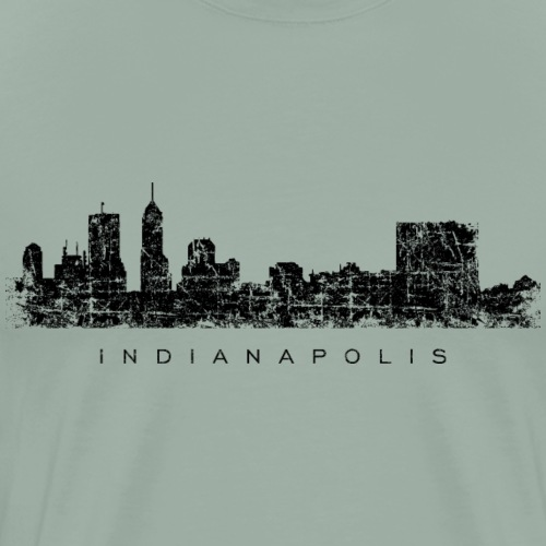 Indianapolis Skyline (Vintage Black) - Men's Premium T-Shirt