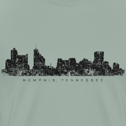 Memphis, Tennessee Skyline (Vintage Black) - Men's Premium T-Shirt