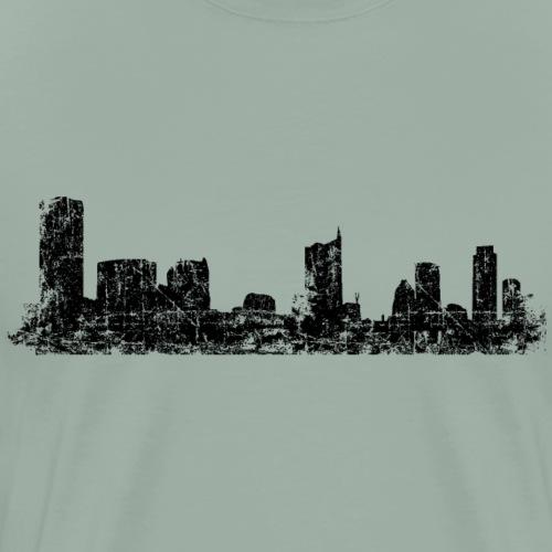Austin, Texas Skyline (Vintage Black) - Men's Premium T-Shirt