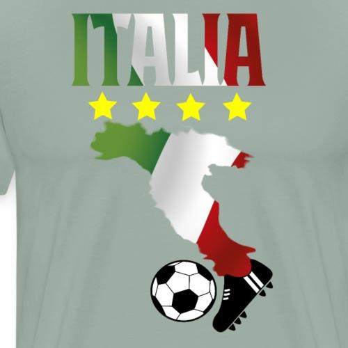 Proud Italia Italian Soccer Cheer Shirt - Men's Premium T-Shirt