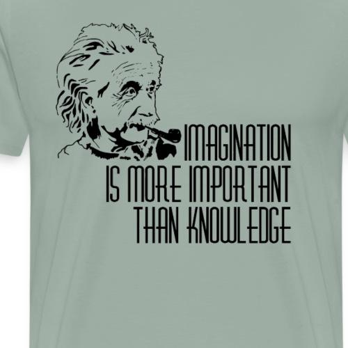 Imagination is more important than knowledge - Men's Premium T-Shirt