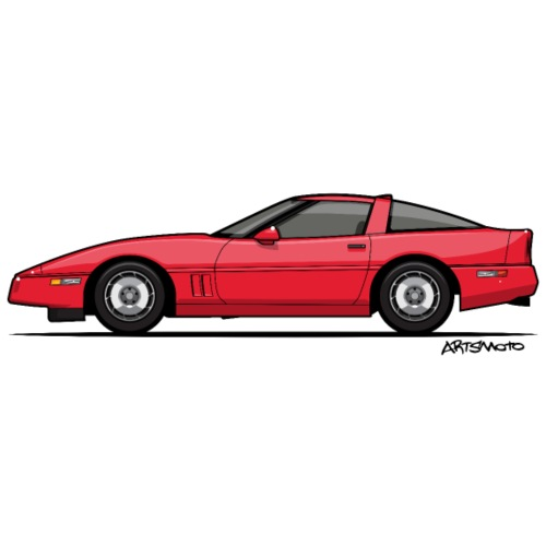Red American C4 Coupe - Men's Premium T-Shirt