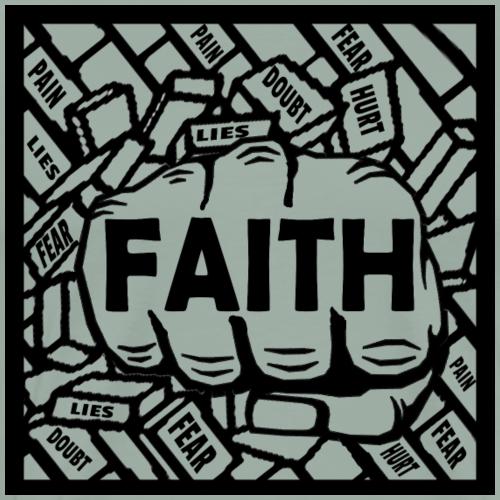 Faith Breaking Through Lies Doubt Hurt Pain Fear - Men's Premium T-Shirt