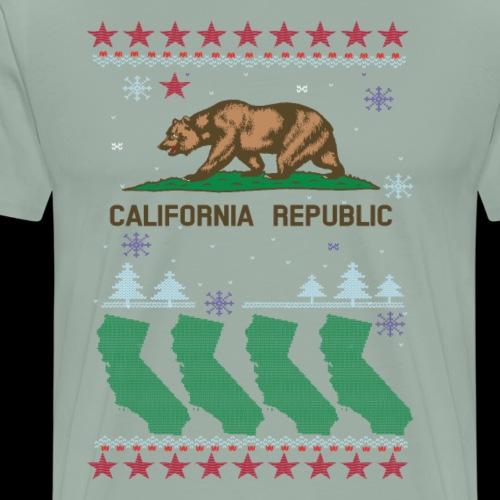 California Christmas | Ugly Sweater - Men's Premium T-Shirt