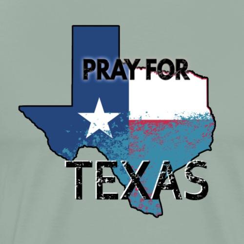 Texas Harvey Houston. Pray for Texas - Men's Premium T-Shirt