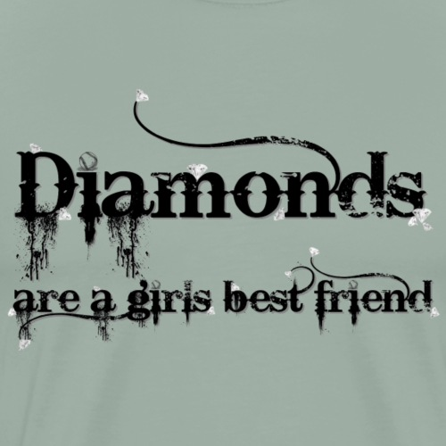 Diamonds are a girls best friend - black - Men's Premium T-Shirt