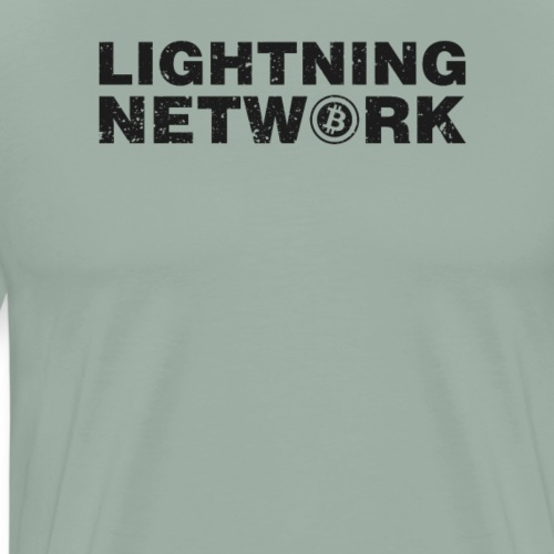 Lightning Network Bitcoin Tshirt - Men's Premium T-Shirt