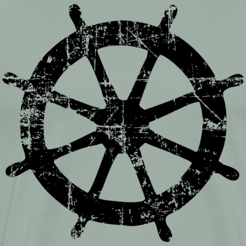 Steering Wheel Vintage Black) Boating & Sailing - Men's Premium T-Shirt