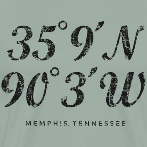 Memphis Coordinates (Vintage Black) - Men's Premium T-Shirt