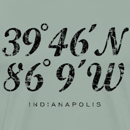 Indianapolis Coordinates (Vintage Black) - Men's Premium T-Shirt