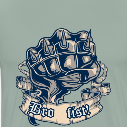vintage vector bro fist - Men's Premium T-Shirt