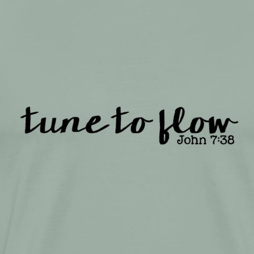 Tune to Flow - Design 1 - Men's Premium T-Shirt