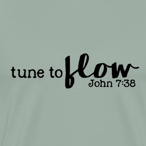 Tune to Flow - Design 3 - Men's Premium T-Shirt