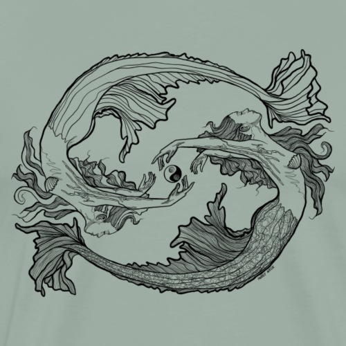 Yin Yang Mermaid - Men's Premium T-Shirt