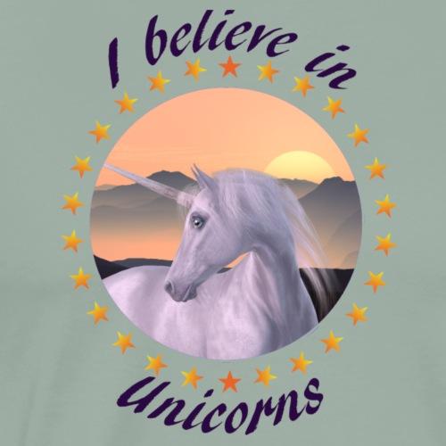 I Believe In Unicorns - Men's Premium T-Shirt