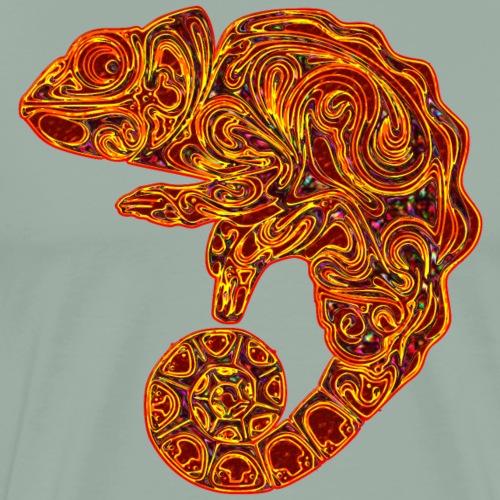Red Orange Abstract Chameleon - Men's Premium T-Shirt
