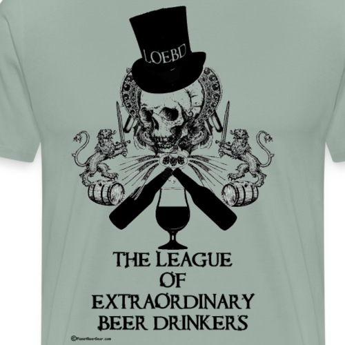 The League of Extraordinary Beer Drinkers Skull To - Men's Premium T-Shirt