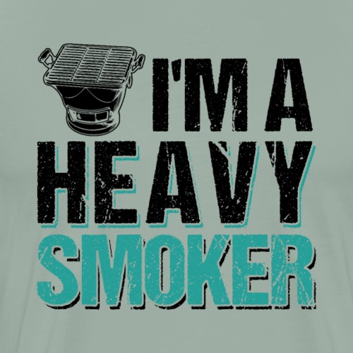 I'm A Heavy Smoker BBQ Barbeque - Men's Premium T-Shirt