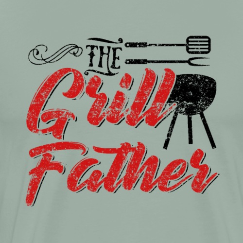 The Grillfather Godfather Barbeque BBQ - Men's Premium T-Shirt