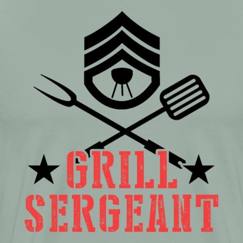 Grill Sergeant Barbeque Fan Lover - Men's Premium T-Shirt
