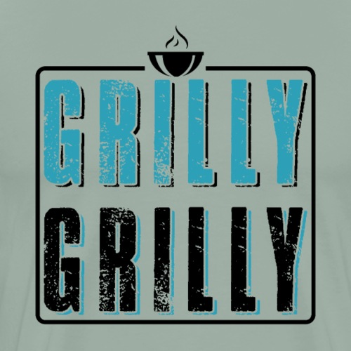 Grilly Grilly BBQ Barbeque - Men's Premium T-Shirt