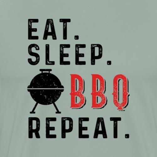 Eat Sleep BBQ Repeat Barbeque Gift - Men's Premium T-Shirt