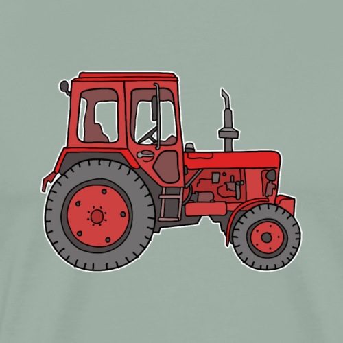 Red tractor - Men's Premium T-Shirt