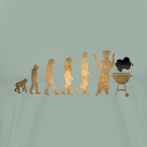 Evolution Of Grilling Barbque BBQ Gold Edition - Men's Premium T-Shirt