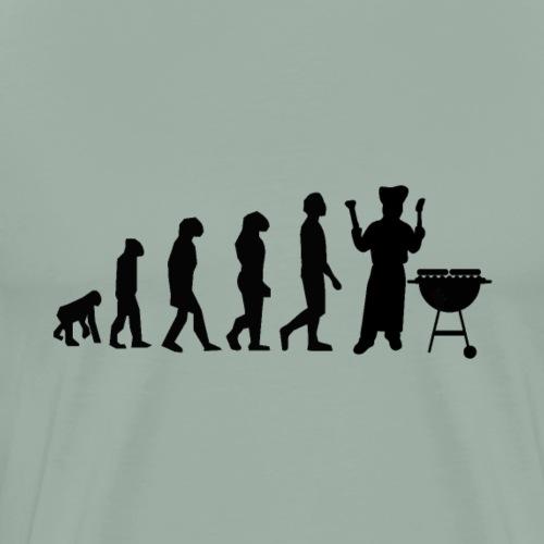 Evolution Of Grilling Barbque BBQ - Men's Premium T-Shirt