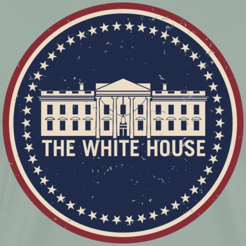 The White House Washington D.C. Vintage Style Logo - Men's Premium T-Shirt