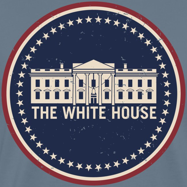 The White House Washington D.C. Vintage Style Logo