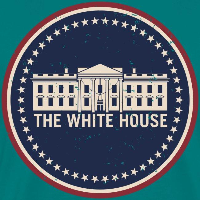 The White House Washington D.C. Vintage Style Logo