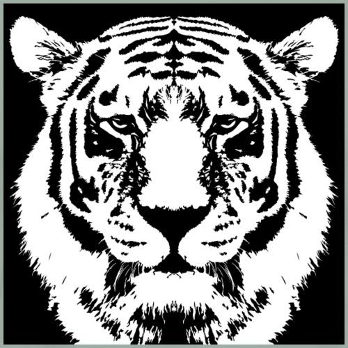 White and Black Tiger - Men's Premium T-Shirt