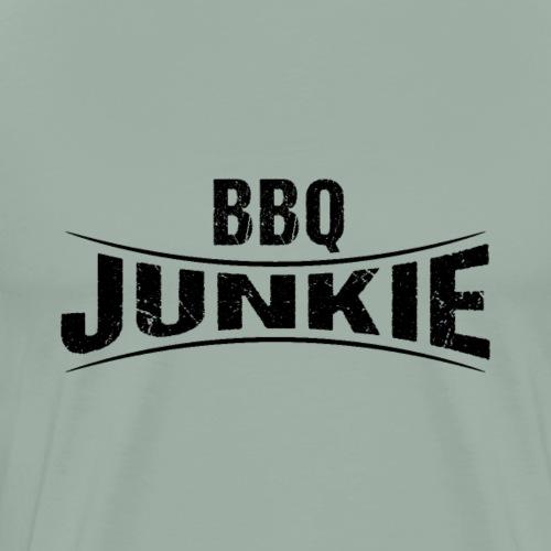BBQ Junkie Logo Badge - Men's Premium T-Shirt