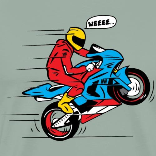 WEEEE WHEELIE MOTO - Men's Premium T-Shirt