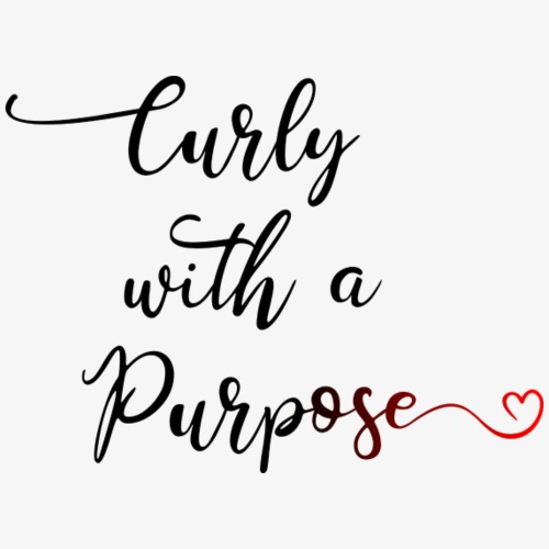Curly With A Purpose - text only - Men's Premium T-Shirt