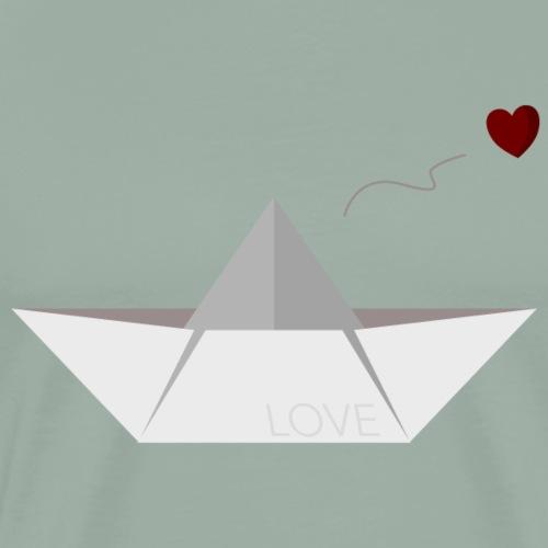 Love paper boat