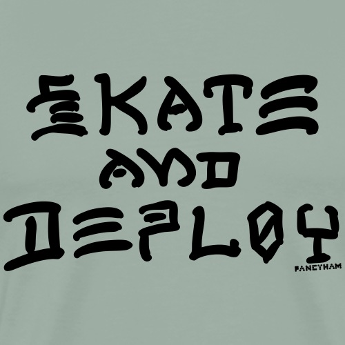 Skate and Deploy - Men's Premium T-Shirt