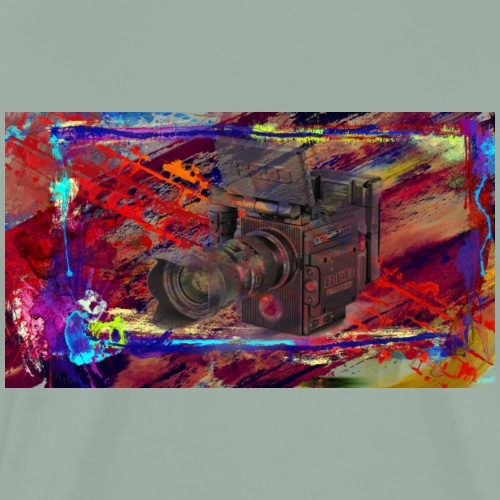 Red Camera Paint Splatter Graphic Design - Men's Premium T-Shirt