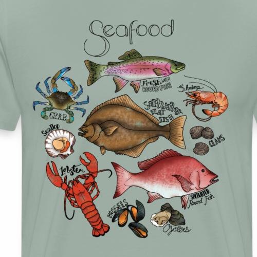 Seafood- Colour - Men's Premium T-Shirt