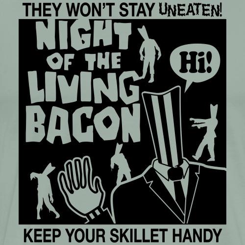 night of the living bacon - Men's Premium T-Shirt