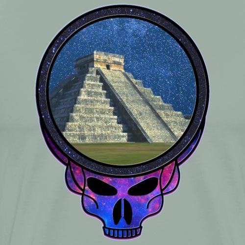 Mayan Pyramid Steal Your Face Like Skull - Men's Premium T-Shirt