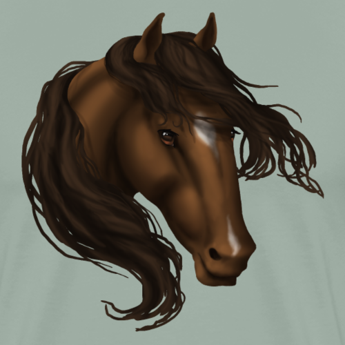 Brown Star Snip Horse - Men's Premium T-Shirt
