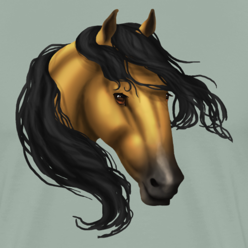 Buckskin Horse Head - Men's Premium T-Shirt