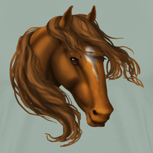 Chestnut Star Horse - Men's Premium T-Shirt