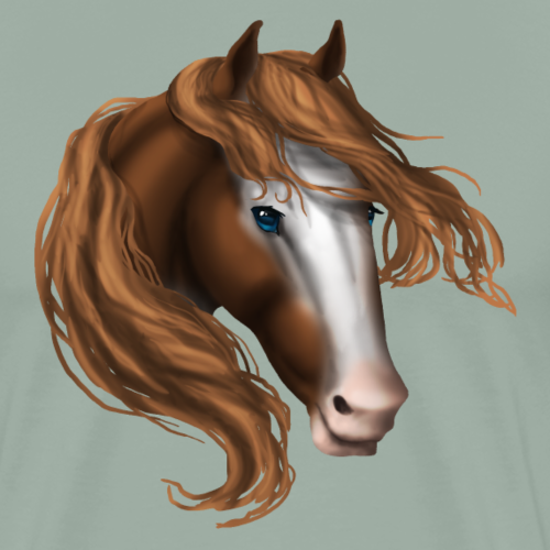 Bald Face Blue Eye Horse - Men's Premium T-Shirt